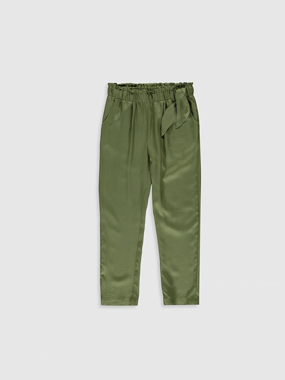 Haki Kız Çocuk Viskon Pantolon 9WP254Z4 LC Waikiki