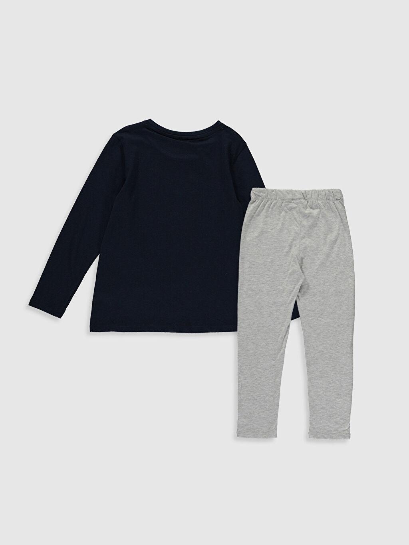 %100 Pamuk Fenerbahçe Süprem Standart Pijama Takım Kız Çocuk Fenerbahçe Amblemli Pamuklu Pijama Takımı