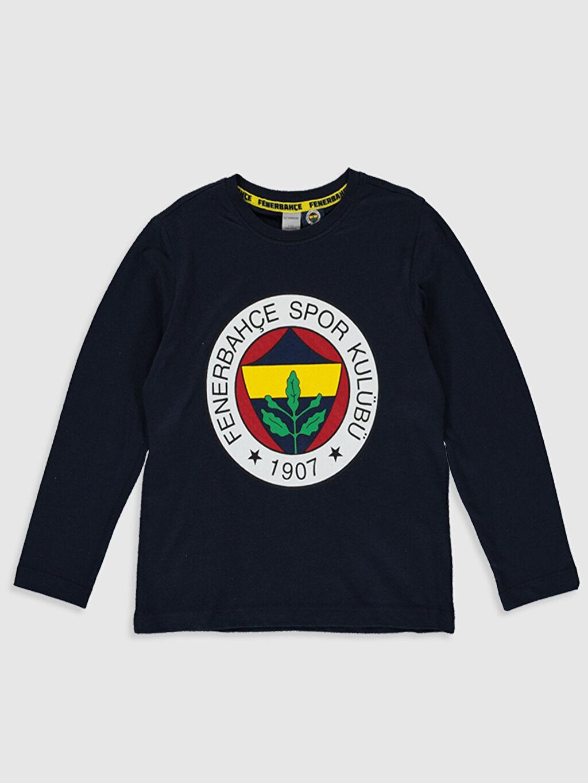 Kız Çocuk Kız Çocuk Fenerbahçe Amblemli Pamuklu Pijama Takımı