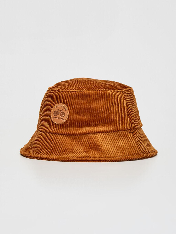 Sarı Erkek Çocuk Balıkçı Kadife Şapka 9WT552Z4 LC Waikiki
