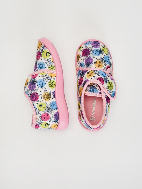 %0 Tekstil malzemeleri (%100 poliester) Astarsız Işıksız Cırt Cırt Panduf Kız Çocuk Cırt Cırtlı Ev Ayakkabısı