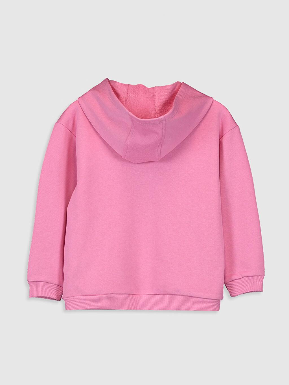%64 Pamuk %36 Polyester  Kız Çocuk Kapüşonlu Sweatshirt