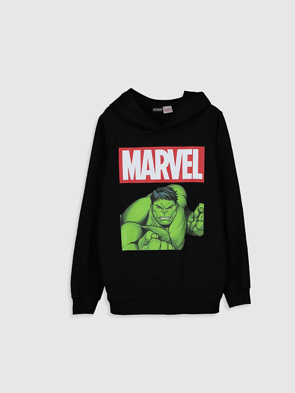 Siyah Erkek Çocuk Hulk Baskılı Sweatshirt 9WA830Z4 LC Waikiki