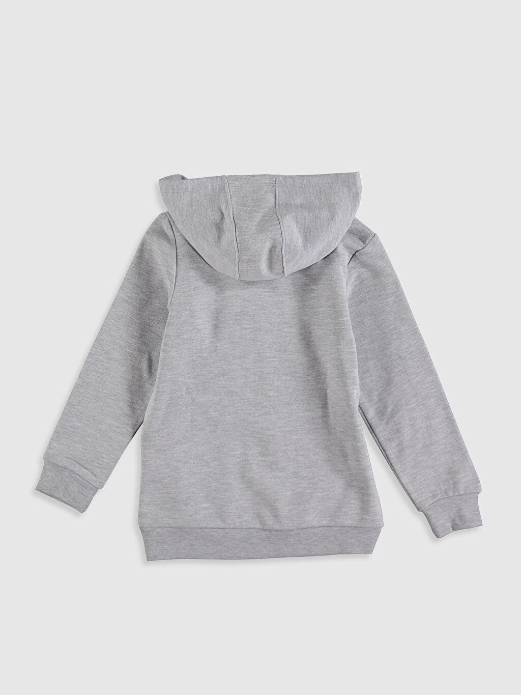 %69 Pamuk %31 Polyester Sweatshirt Diğer Kapüşon Yaka Düz İki İplik İçi Tüylü Erkek Çocuk Tsubasa Baskılı Sweatshirt