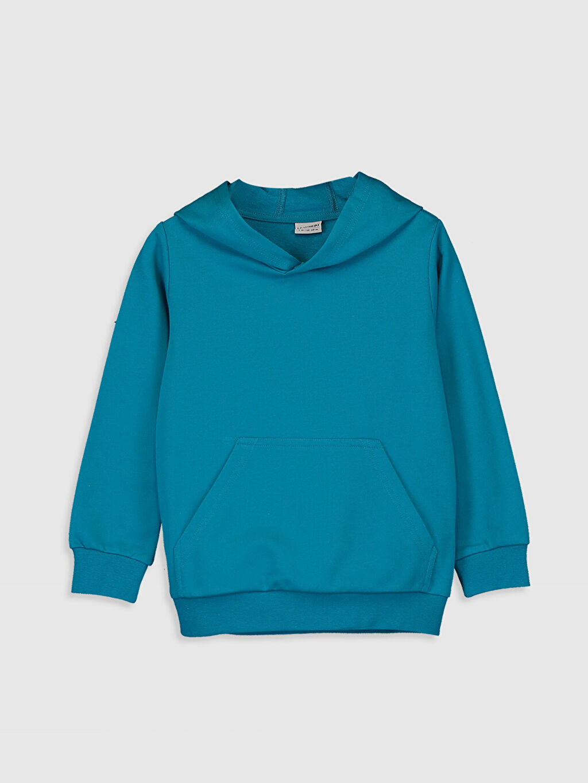 Turkuaz Erkek Çocuk Kapüşonlu Sweatshirt 9WB708Z4 LC Waikiki