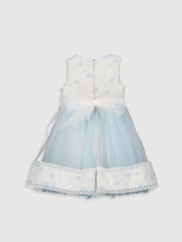Diz Üstü Düz Daisy Girl Kız Bebek Desenli Abiye Elbise
