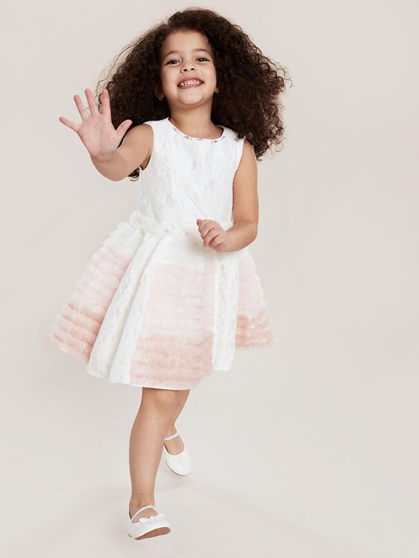 Sarı Daisy Girl Kız Çocuk Dantel Detaylı Abiye Elbise 9WB748Z4 LC Waikiki