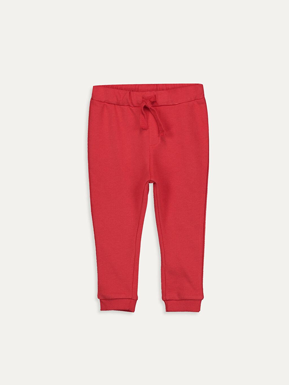 Kırmızı Erkek Bebek Jogger Eşofman Altı 9W0319Z1 LC Waikiki