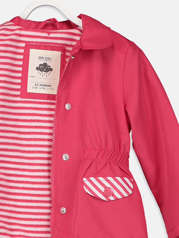 %100 Polyester Kız Bebek Yazı Baskılı Mont