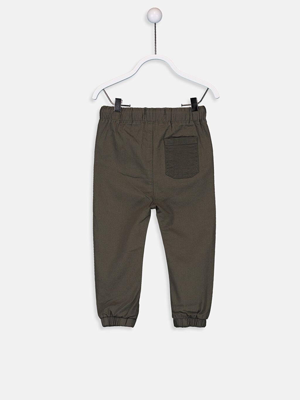 %97 Pamuk %3 Elastan Aksesuarsız Astarsız Pantolon Düz Erkek Bebek Jogger Pantolon