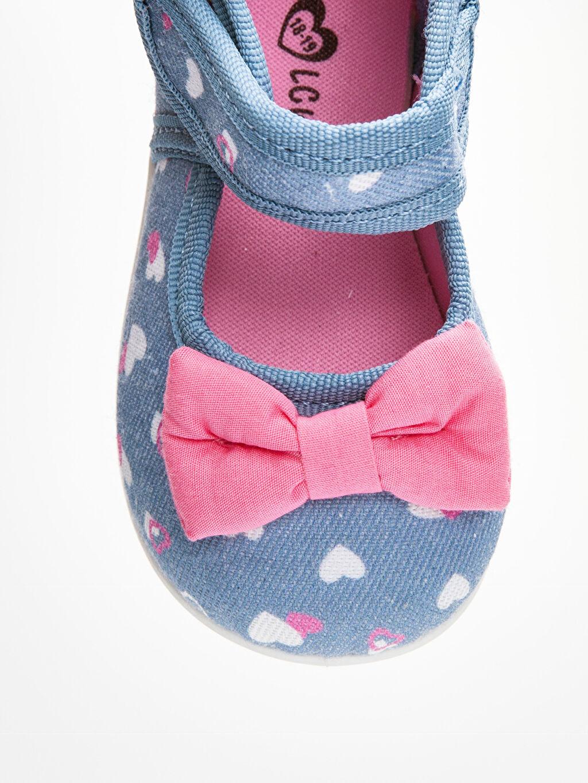 LC Waikiki Mavi Kız Bebek Fiyonklu Babet Ayakkabı