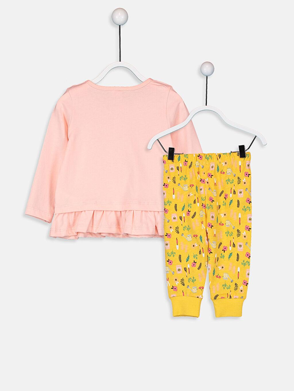 %100 Pamuk %100 Pamuk Süprem Pijama Takım Standart Kız Bebek Baskılı Pamuklu Pijama Takımı