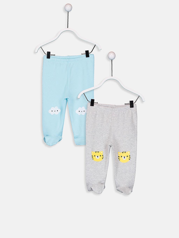 Ekru Erkek Bebek Pamuklu Pantolon 2'li 9W1402Z1 LC Waikiki