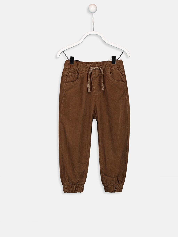Kahverengi Erkek Bebek Jogger Kadife Pantolon 9W1666Z1 LC Waikiki