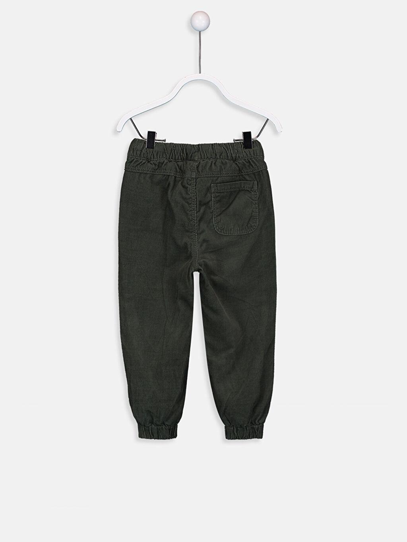 %100 Pamuk %100 Polyester Beş Cep Pantolon Polar Astar Aksesuarsız Kadife Bol Erkek Bebek Jogger Kadife Pantolon