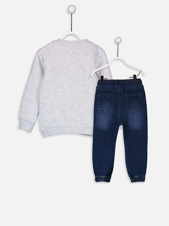 %43 Pamuk %57 Polyester %98 Pamuk %2 Elastan Takım Standart Erkek Bebek Sweatshirt ve Jean Pantolon