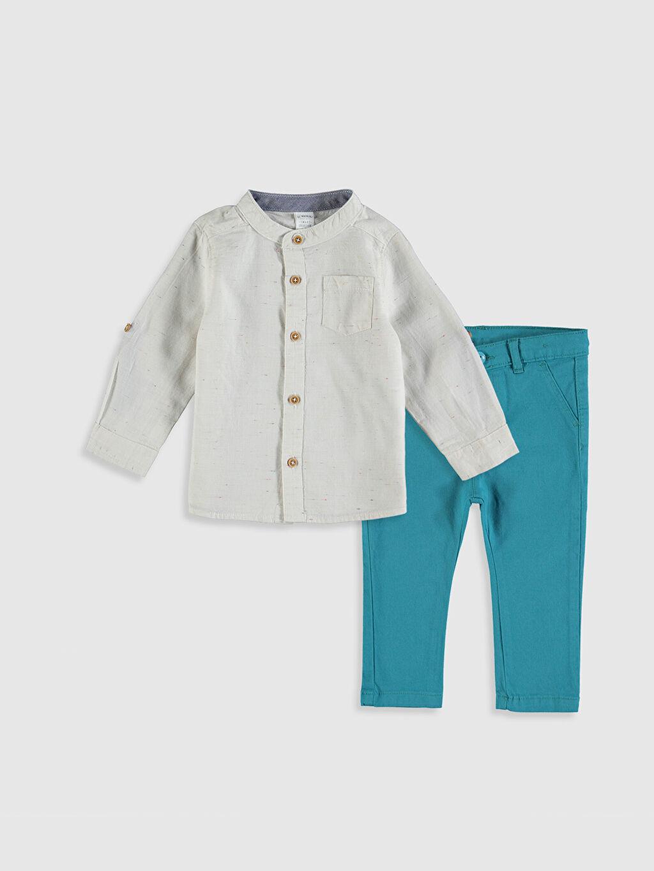 Turuncu Erkek Bebek Gömlek ve Pantolon 9W1678Z1 LC Waikiki