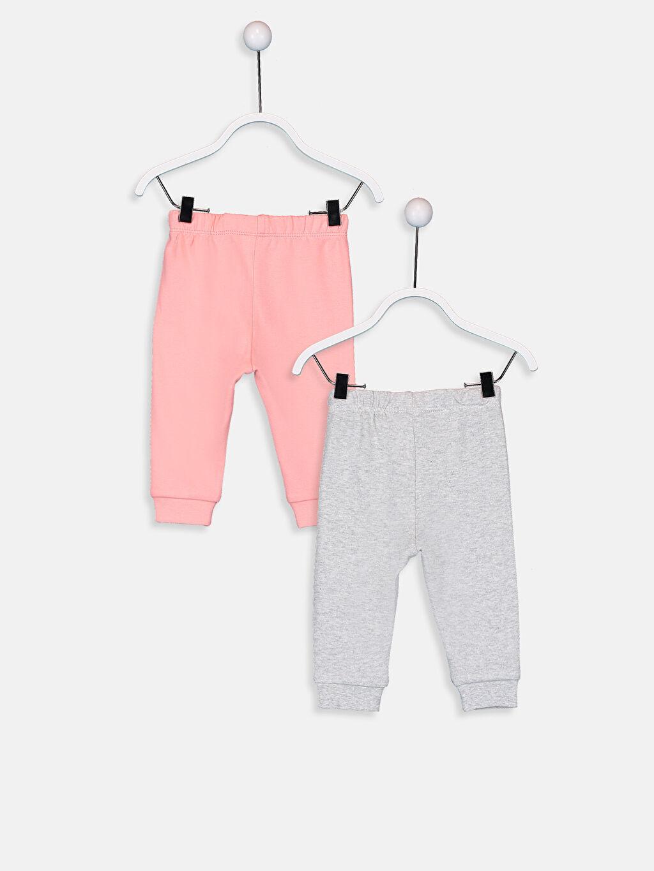 %100 Pamuk Standart Pijama Alt İnterlok Kız Bebek Pamuklu Pijama Alt 2'li
