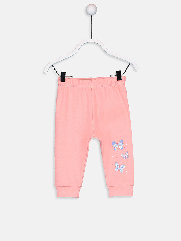 Kız Bebek Kız Bebek Pamuklu Pijama Alt 2'li