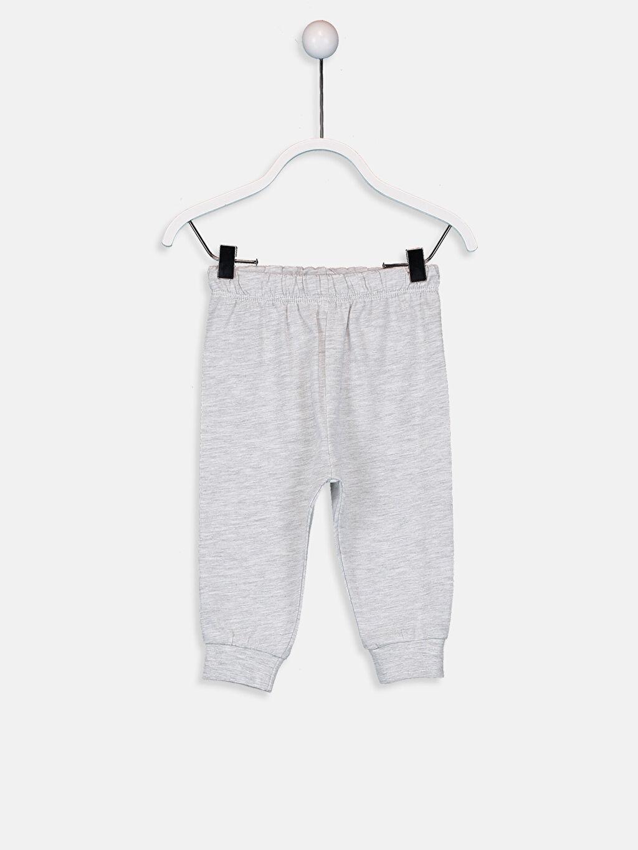 LC Waikiki Beyaz Kız Bebek Desenli Pijama Takımı 4'lü