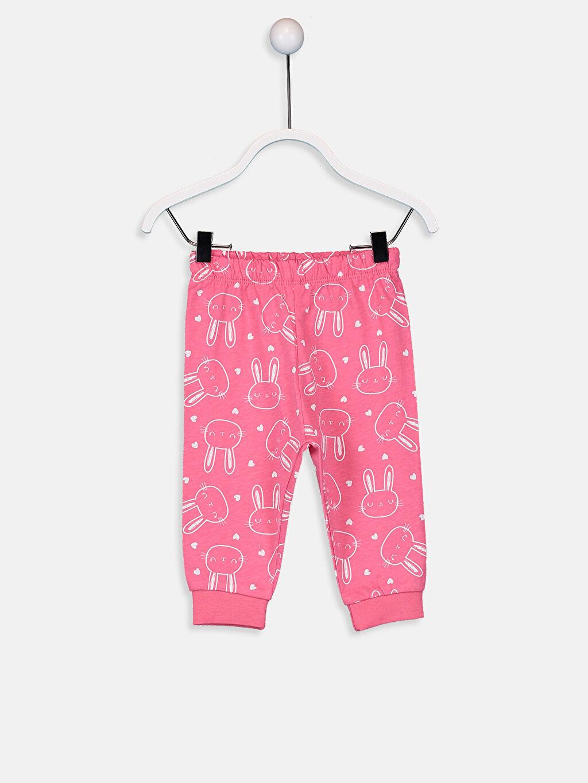 Beyaz Kız Bebek Desenli Pijama Takımı 4'lü