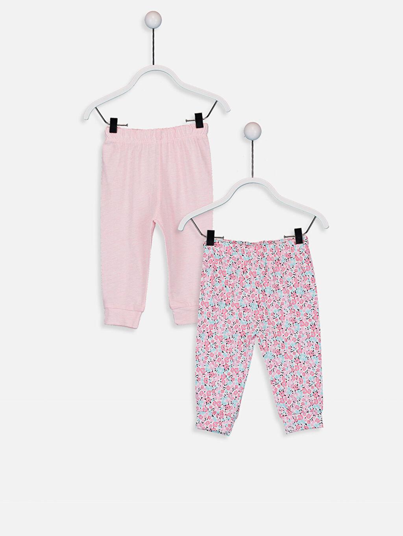Pembe Kız Bebek Desenli Pijama Alt 2'li 9W2107Z1 LC Waikiki