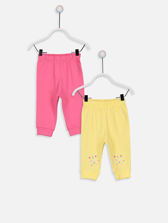 Pembe Kız Bebek Pijama Alt 2'li 9W2157Z1 LC Waikiki