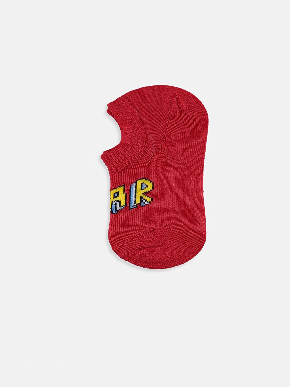 %71 Pamuk %28 Poliamid %1 Elastan Dikişli Baskılı Günlük Orta Kalınlık Patik Çorap Erkek Bebek Babet Çorap 3'lü