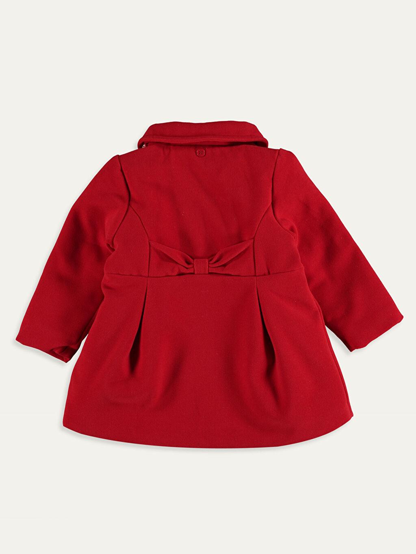 %61 Polyester %34 Viskoz %5 Elastan Kız Bebek Kapüşonlu Kaşe Kaban