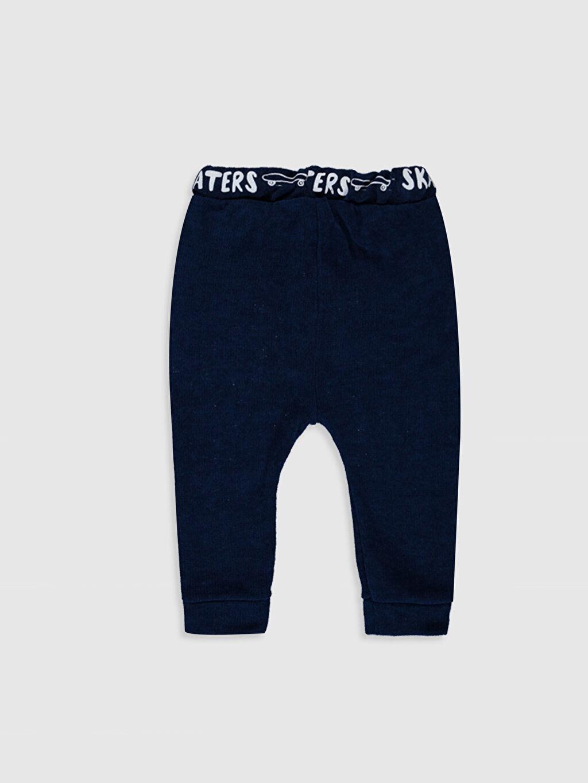 %100 Polyester Eşofman Altı Düz Günlük Orta Kalınlık Üç İplik İçi Tüylü Erkek Bebek Dotty Pantolon