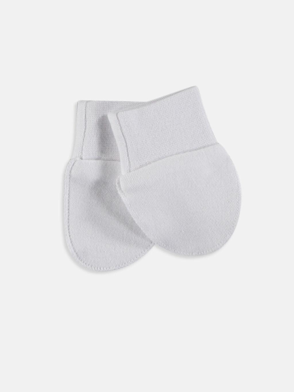 %100 Pamuk Eldiven İnterlok Kız Bebek Pamuklu Eldiven Takımı 2'li