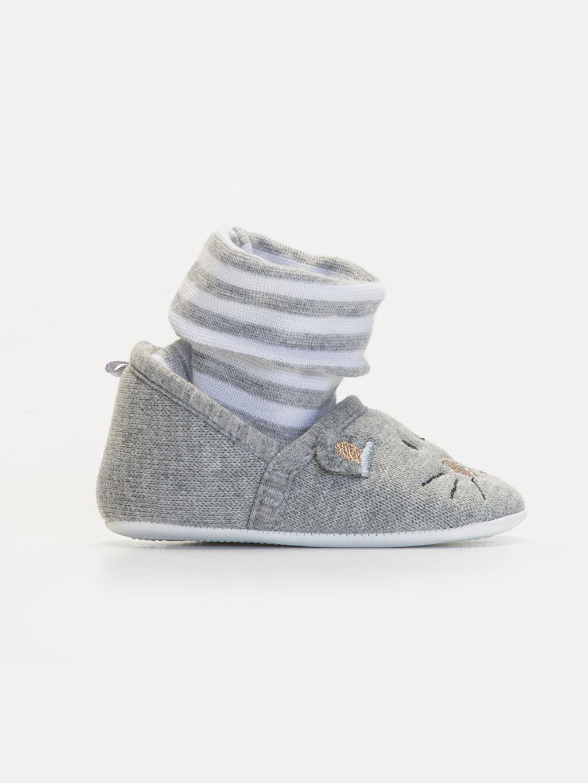 Gri Erkek Bebek Yürüme Öncesi Ayakkabı 9W3186Z1 LC Waikiki