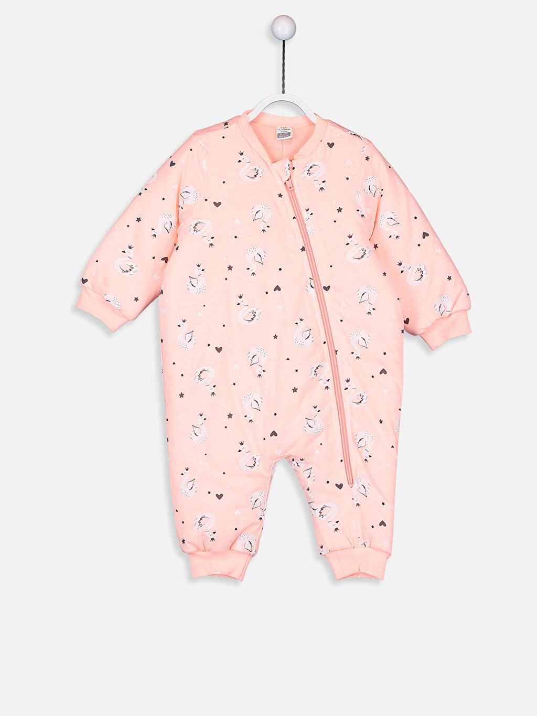 Pembe Kız Bebek Desenli Uyku Tulumu 9W3356Z1 LC Waikiki