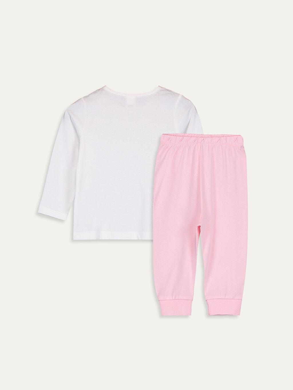 %100 Pamuk %100 Pamuk Standart Pijama Takım Süprem Kız Bebek Pamuklu Pijama Takımı