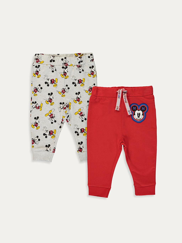 Erkek Bebek Erkek Bebek Mickey Mouse Baskılı Eşofman Alt 2'li
