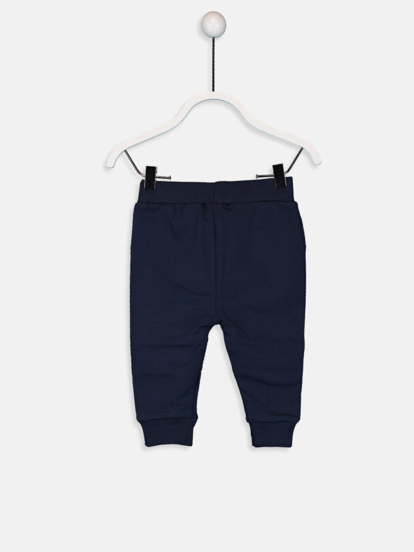 %95 Pamuk %5 Elastan Pantolon İki İplik Erkek Bebek Jogger Pantolon