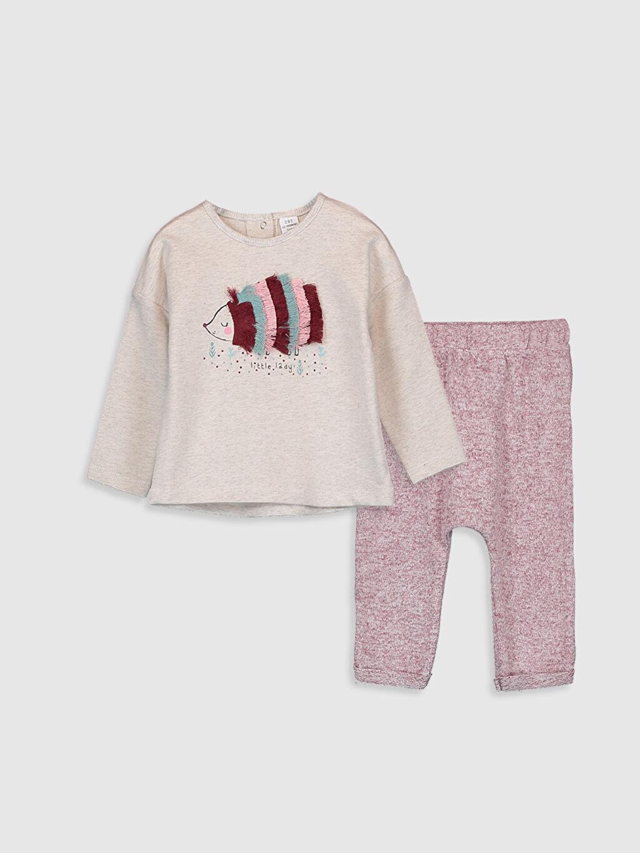 Bej Kız Bebek Pijama Takımı 9W3999Z1 LC Waikiki