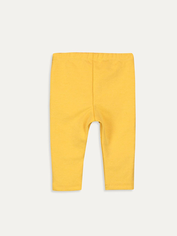 %33 Pamuk %63 Polyester %4 Elastan  Kız Bebek Pamuklu Pantolon