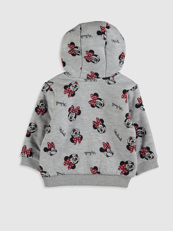 %16 Pamuk %84 Polyester Spor Hırka Polar Kapüşonlu Diğer Kız Bebek Minnie Mouse Baskılı Sweatshirt