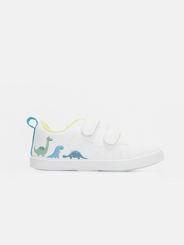 Beyaz Erkek Bebek Dinazor Baskılı Ayakkabı 9W4124Z1 LC Waikiki