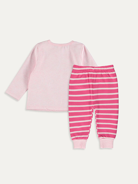 %63 Pamuk %37 Poliester %63 Pamuk %37 Poliester Üç İplik Standart Pijama Takım Kız Bebek Baskılı Pijama Takımı
