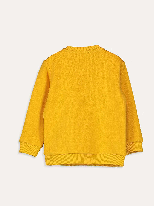 %75 Pamuk %25 Polyester  Erkek Bebek Baskılı Sweatshirt