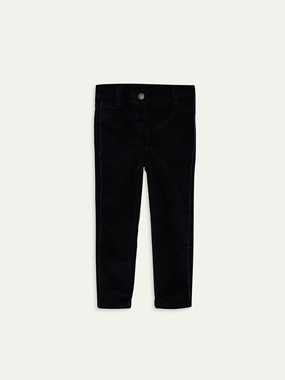 Siyah Kız Bebek Kadife Pantolon 9W6172Z1 LC Waikiki