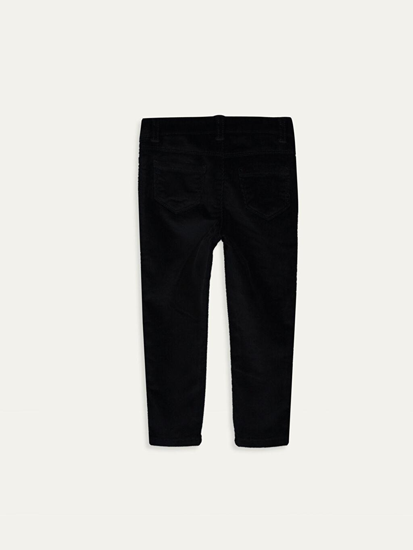%78 Pamuk %20 Viskoz %2 Elastan Düz Smart Casual Kadife Standart Normal Bel Pantolon Kız Bebek Kadife Pantolon