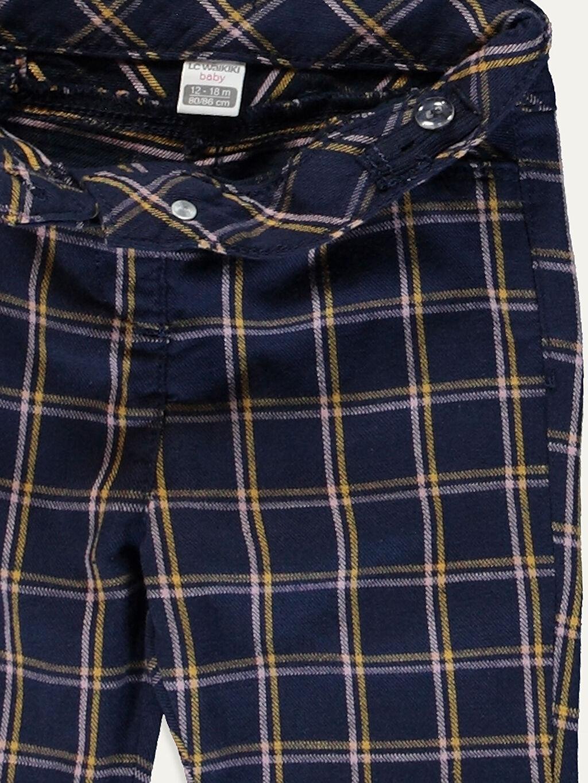 Kız Bebek Kız Bebek Ekoseli Gabardin Pantolon