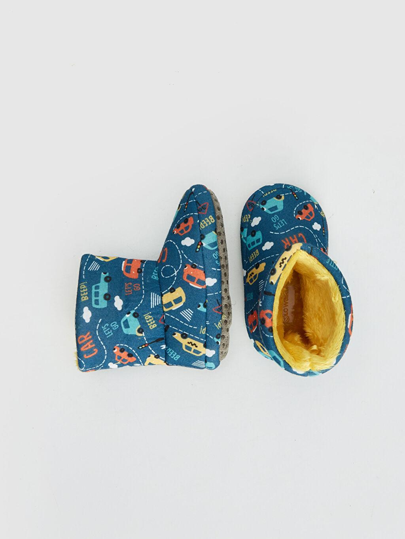 Tekstil malzemeleri Tekstil malzemeleri Uzun Günlük Bağcıksız Polar Astar Panduf Erkek Bebek Araba Baskılı Panduf