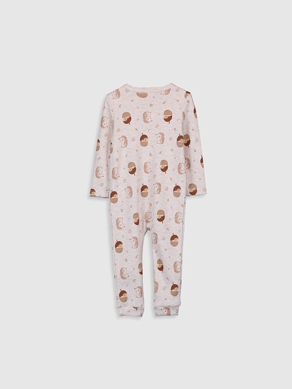 %49 Pamuk %51 Polyester Tulum Erkek Bebek Desenli Tulum