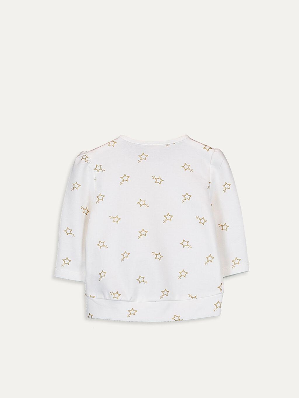 %96 Pamuk %4 Elastan  Kız Bebek Baskılı Pamuklu Tişört