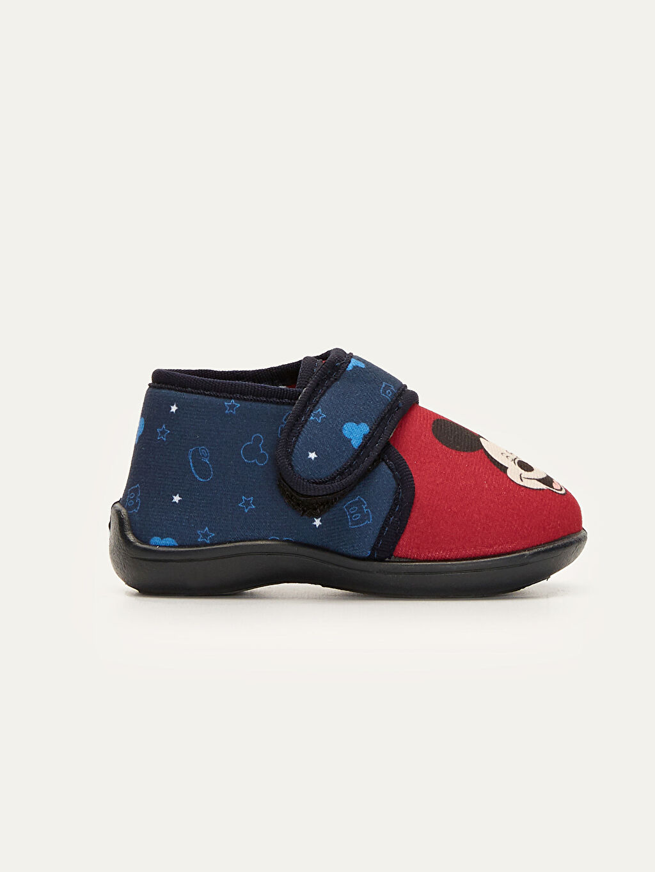 Kırmızı Erkek Bebek Mickey mouse Baskılı Ev Ayakkabısı 9W8171Z1 LC Waikiki