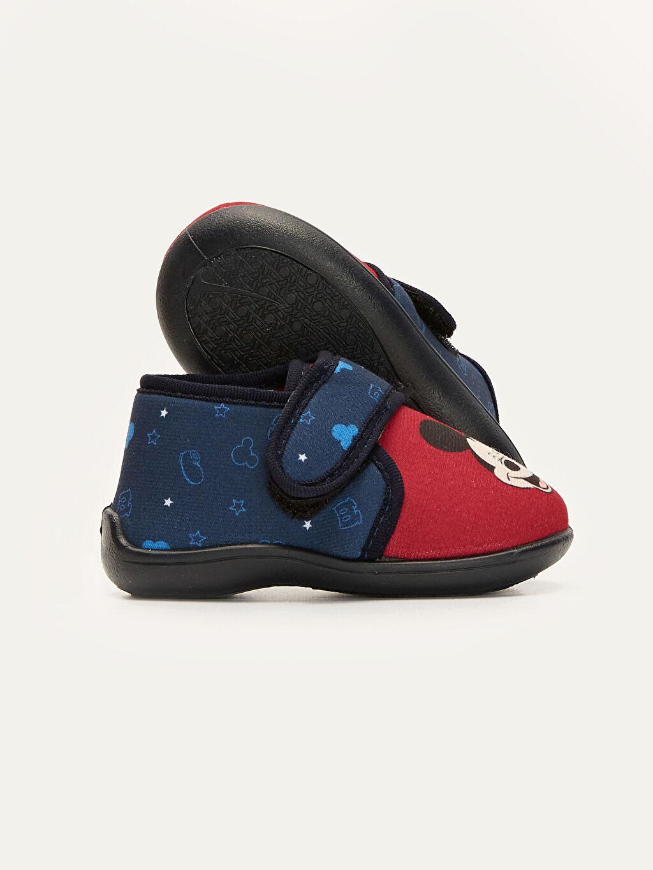 Erkek Bebek Erkek Bebek Mickey mouse Baskılı Ev Ayakkabısı